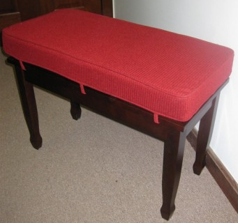 Standard Velour Piano Bench Cushion